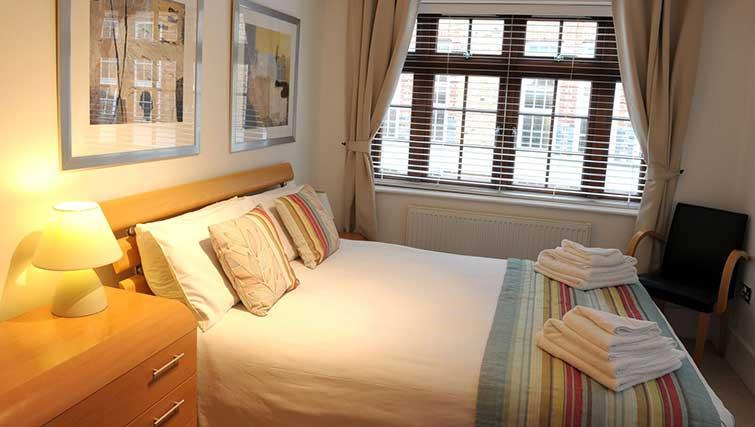 Double bedroom at Blake Mews Apartments