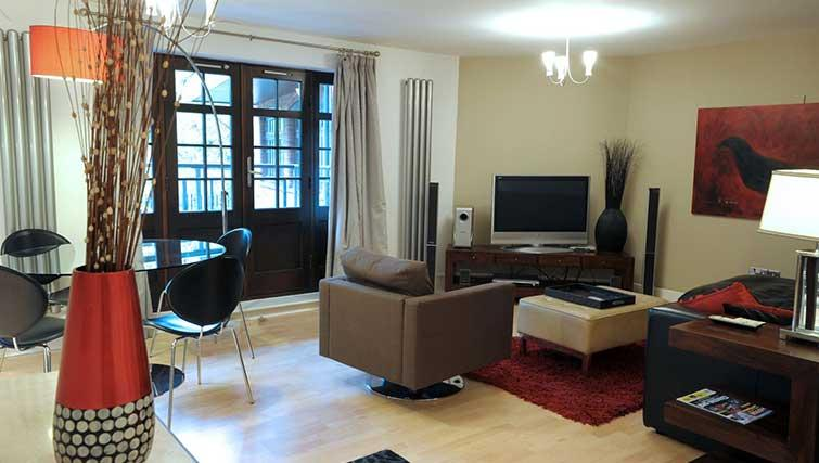 Living area at Blake Mews Apartments