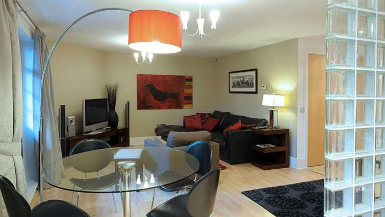 Living/dining area at Blake Mews Apartments