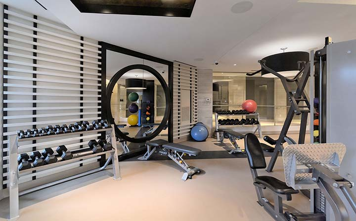 Gym facilities at Old Mill Apartments