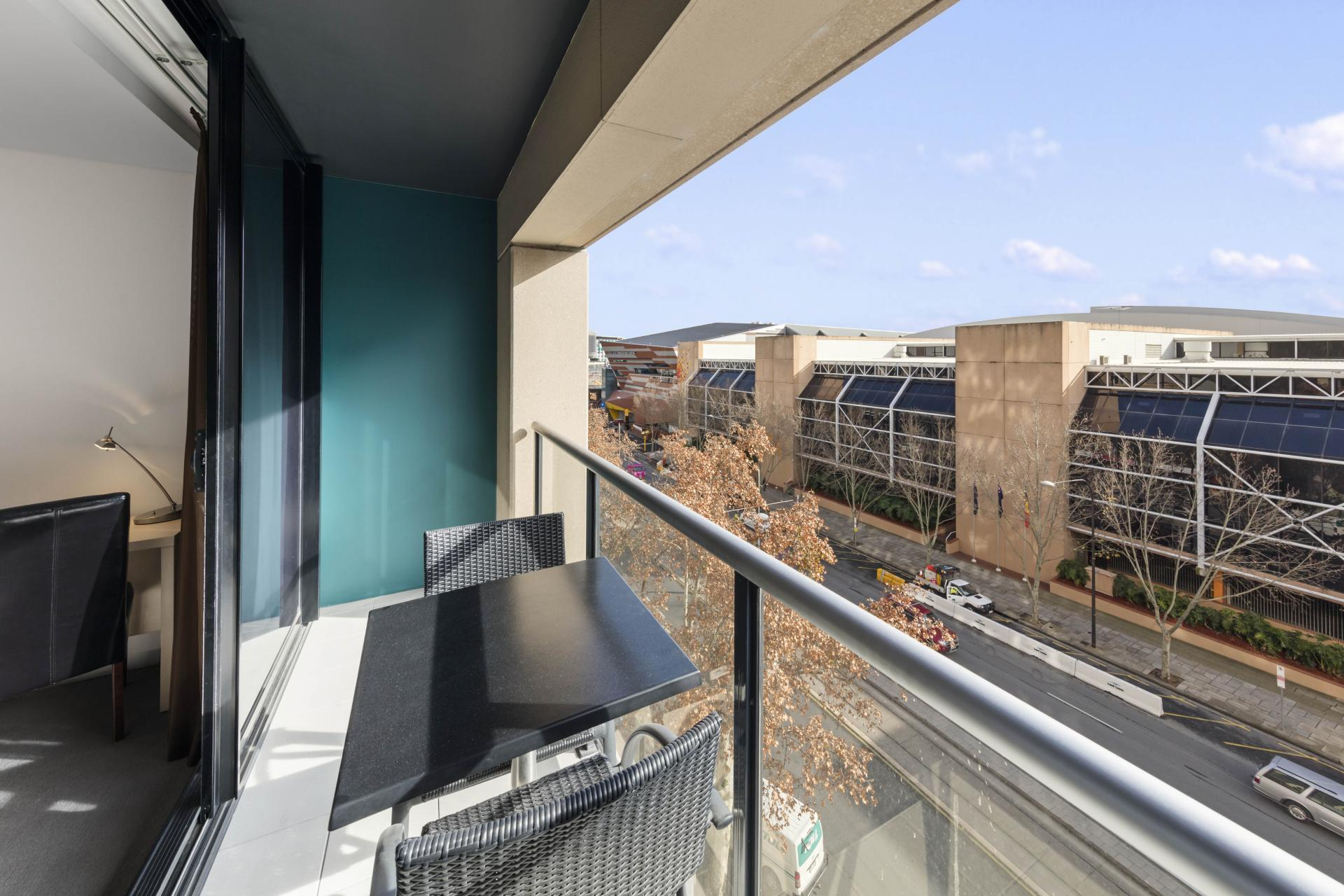 Balcony at Oaks Adelaide Horizons Suites