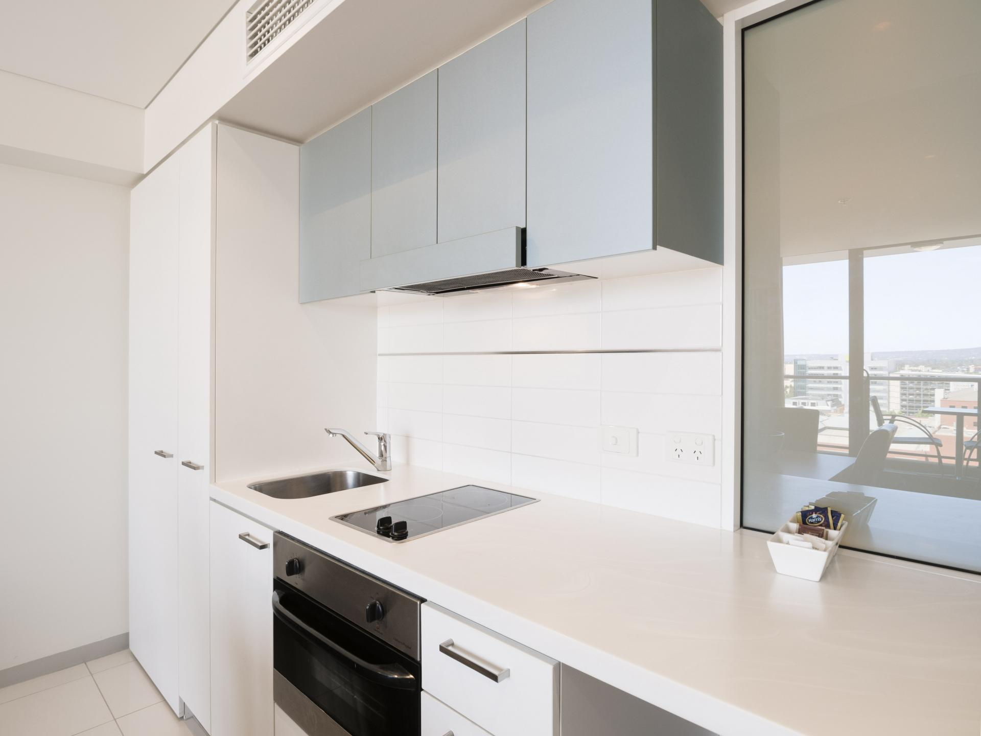 Kitchen at Oaks Adelaide Horizons Suites