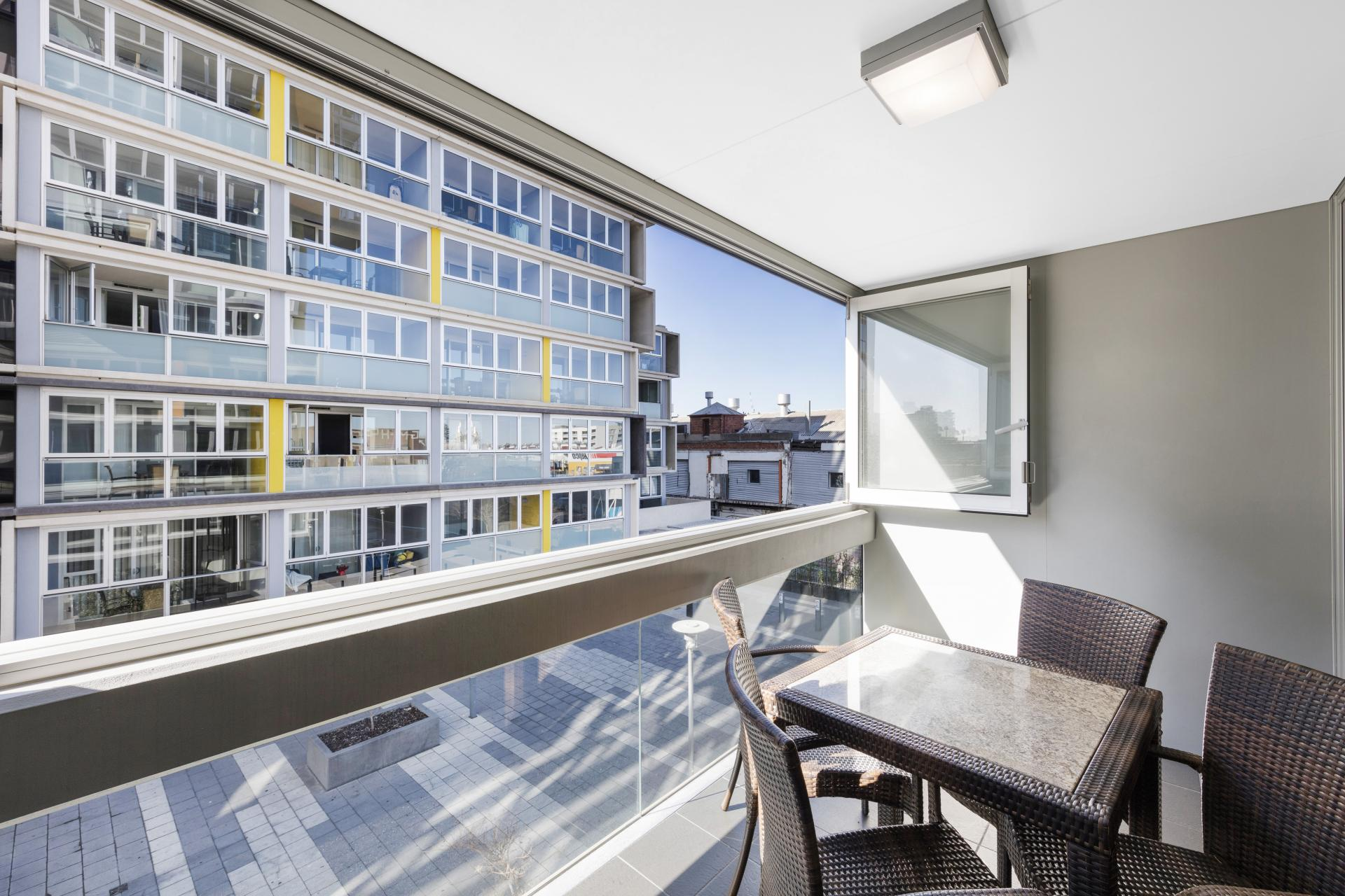 Balcony at iStay Precinct Adelaide Apartments