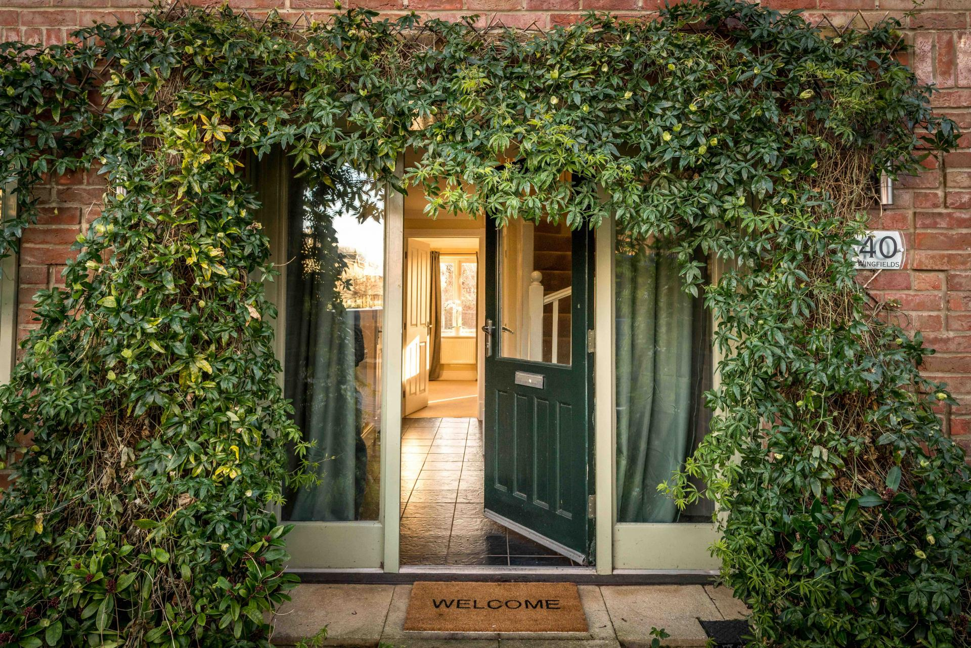 Main Entrance at Wingfield Residence
