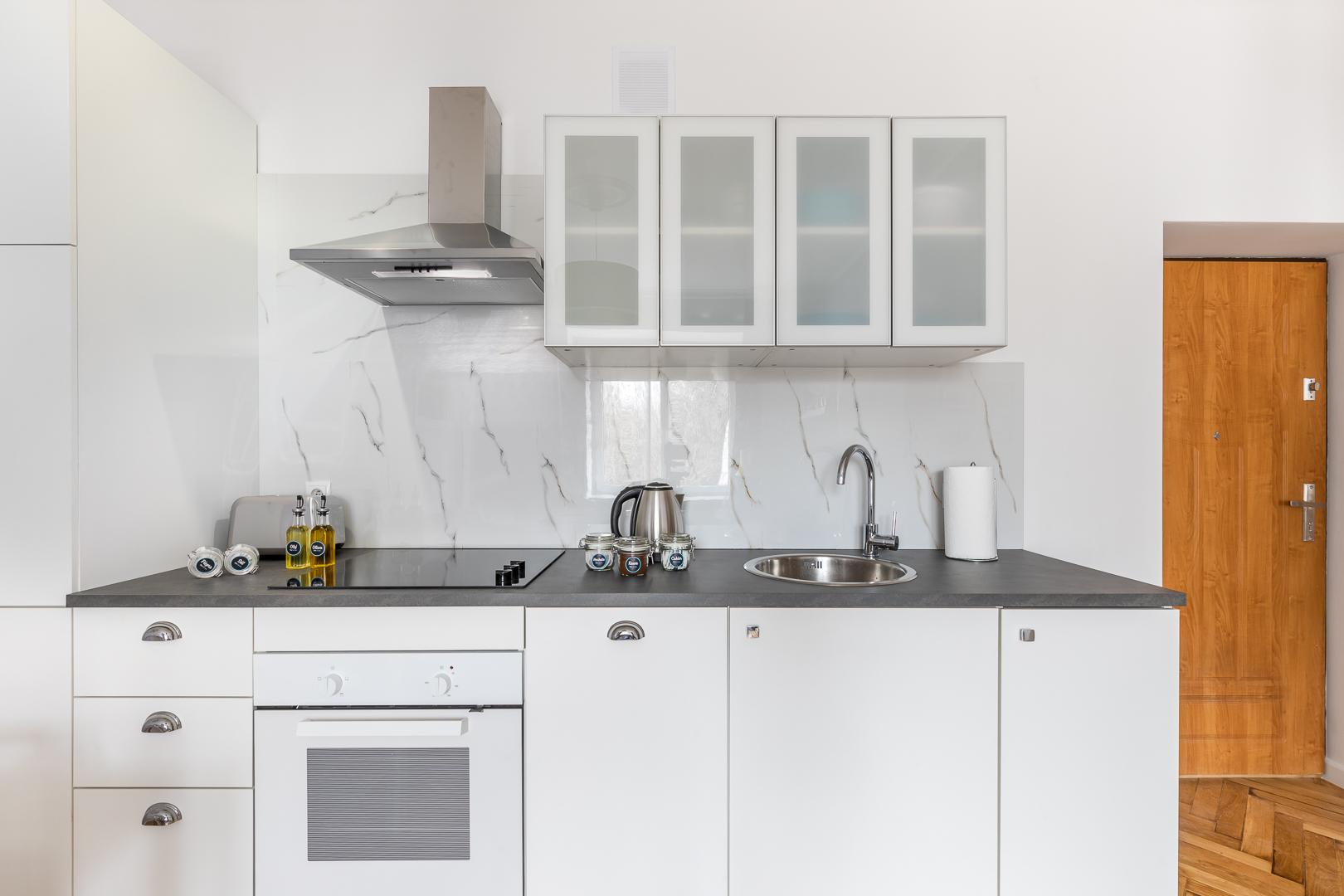 Kitchen at Franciszkaska 10 Apartment