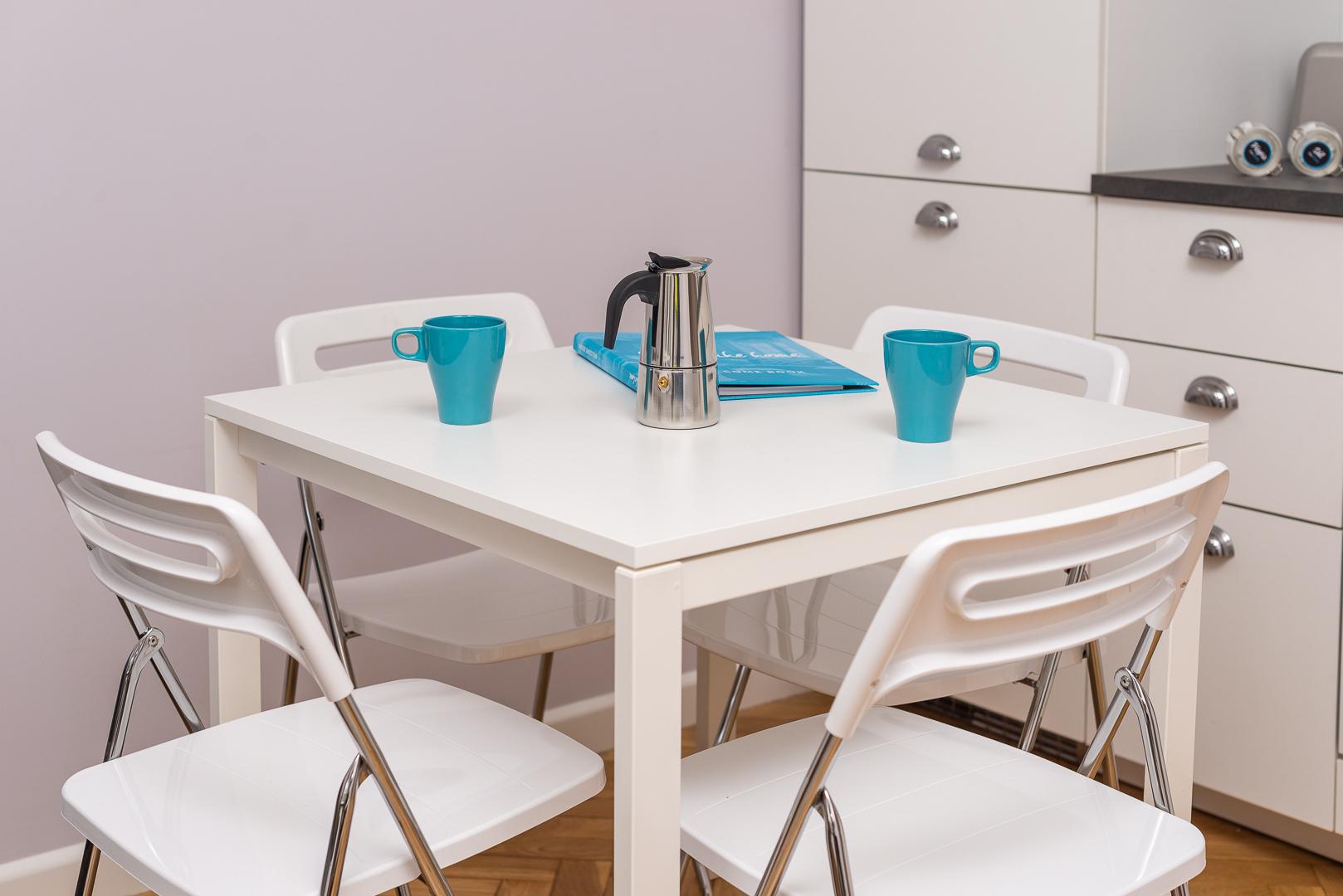 Dining table at Franciszkaska 10 Apartment