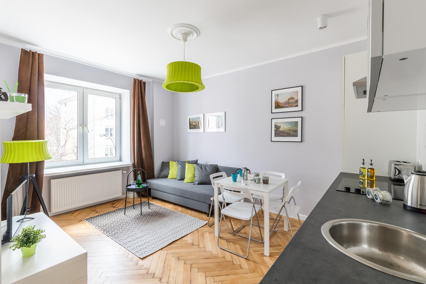 Living room at Franciszkaska 10 Apartment