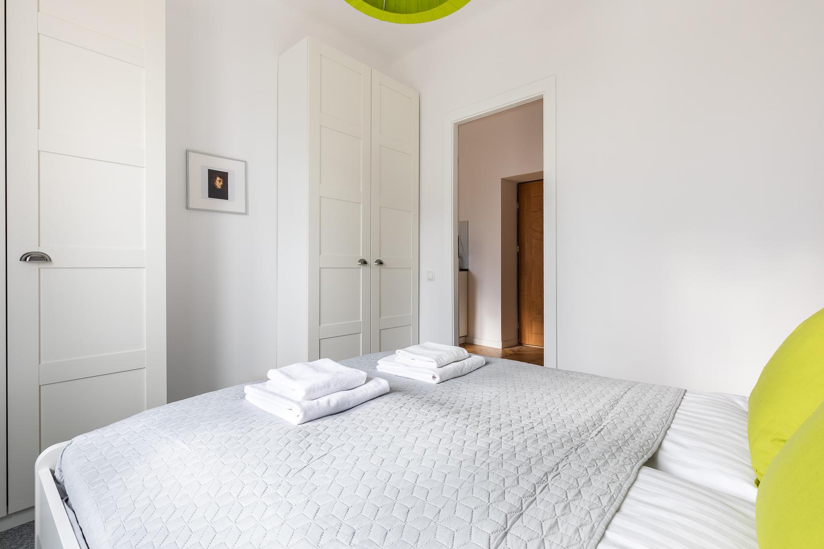 Bright bedroom at Franciszkaska 10 Apartment