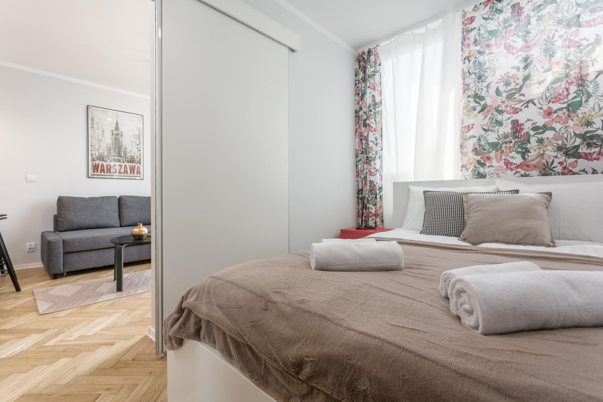 Bedroom at Grzybowska Apartment