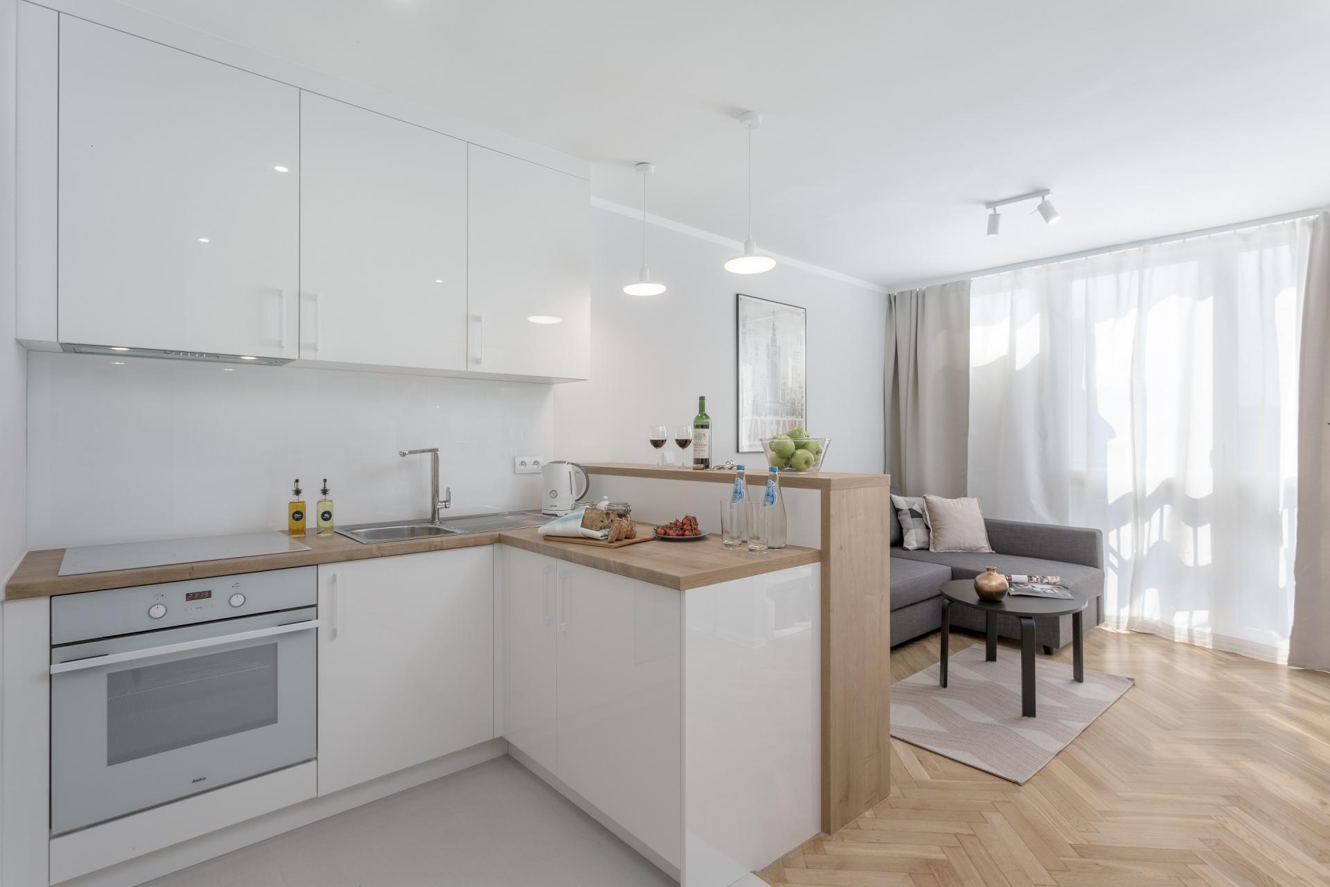 Kitchen at Grzybowska Apartment