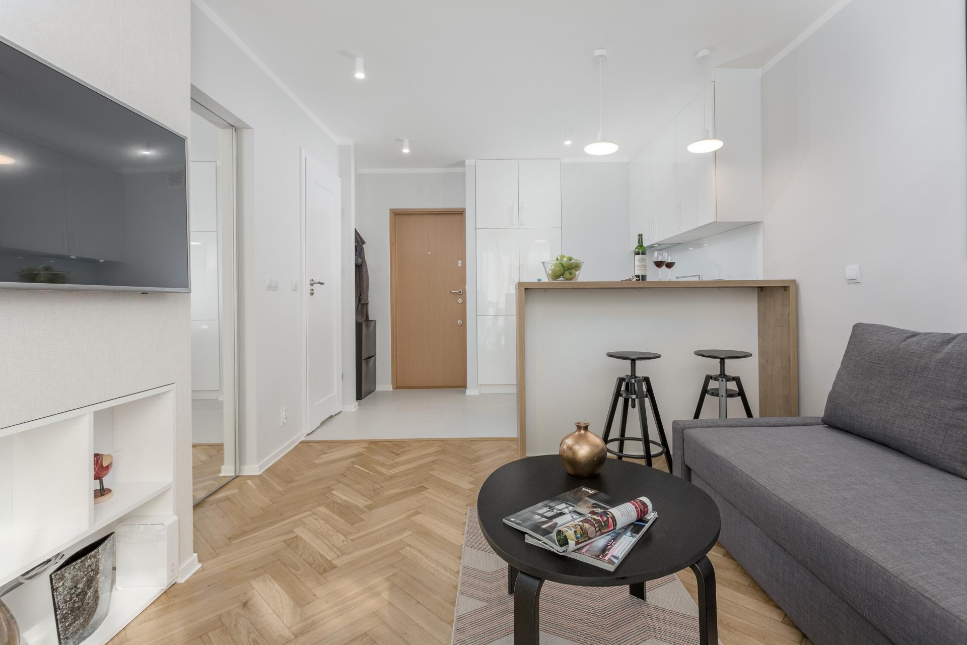 Living room at Grzybowska Apartment