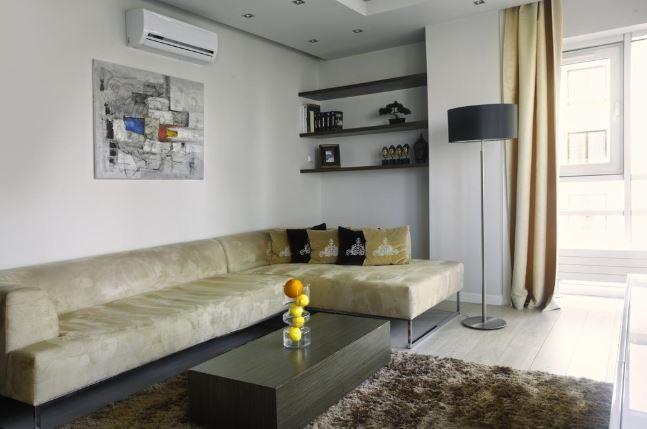 Sofa space at Grzybowska Apartments