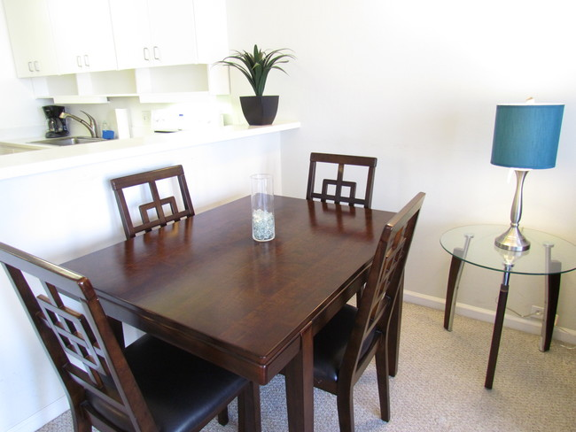 Dining table at Battery Street Apartment
