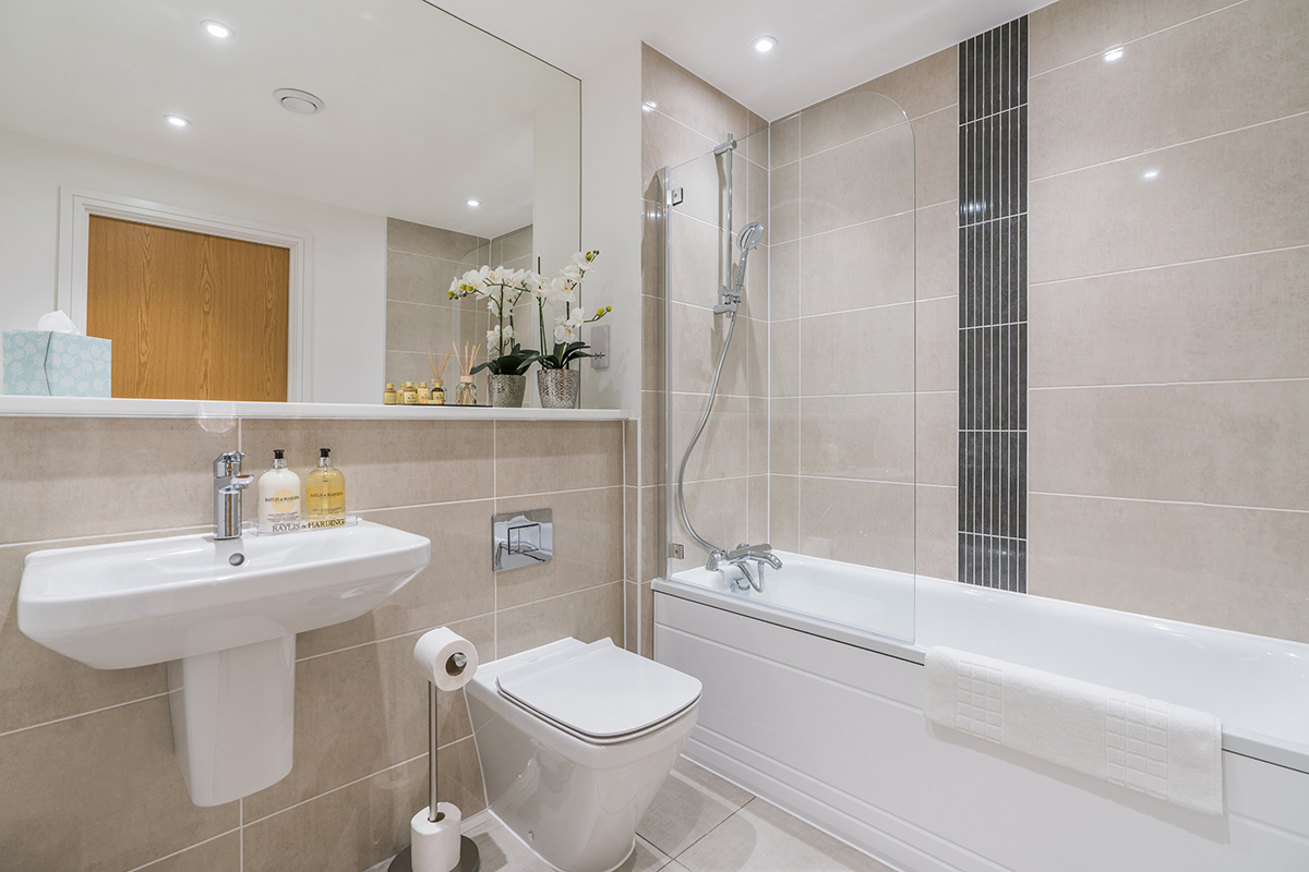 Bathroom at Deanery Court Apartments