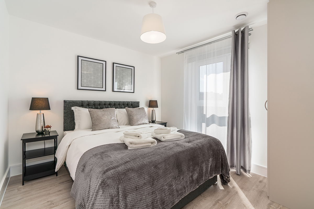 Bedroom at Deanery Court Apartments