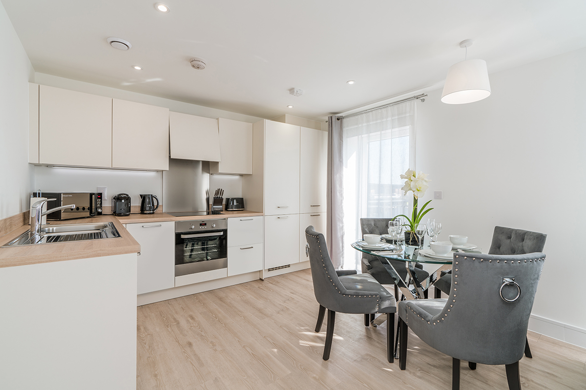 Kitchen at Deanery Court Apartments