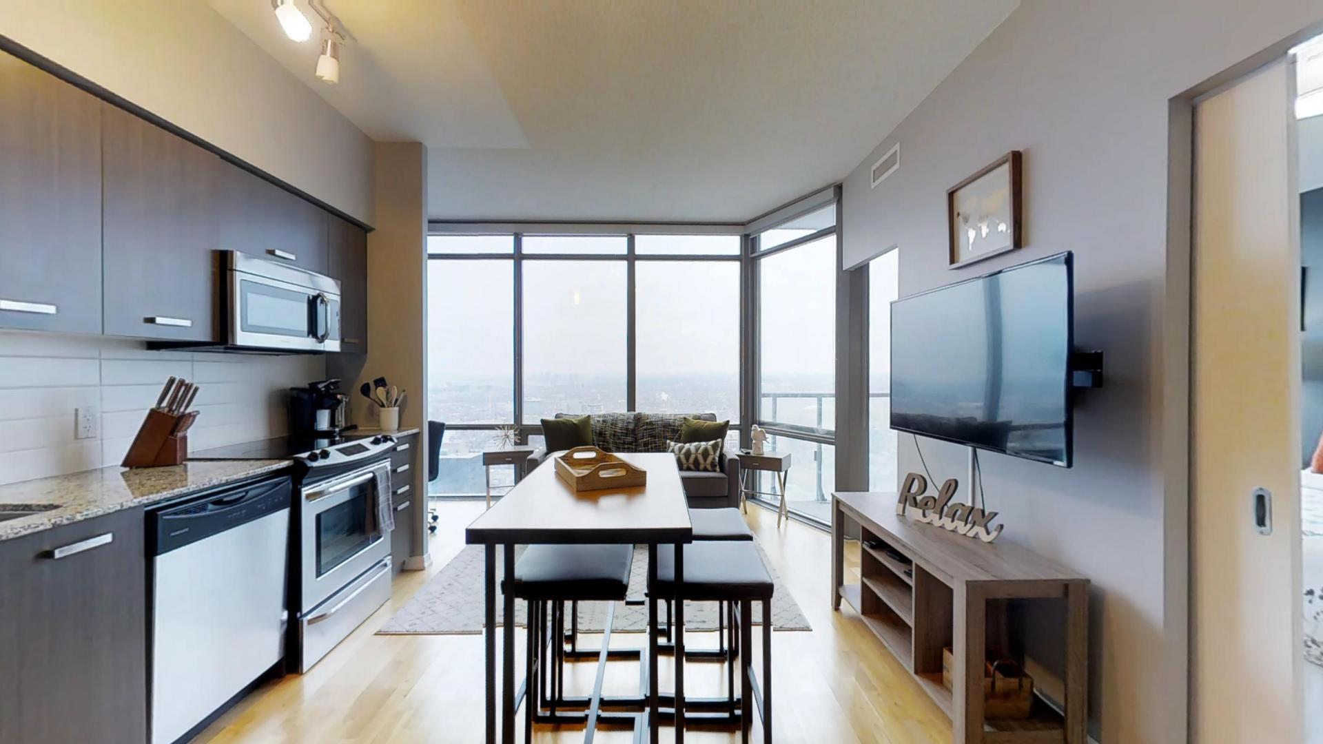 Spacious kitchen at Burano Apartment