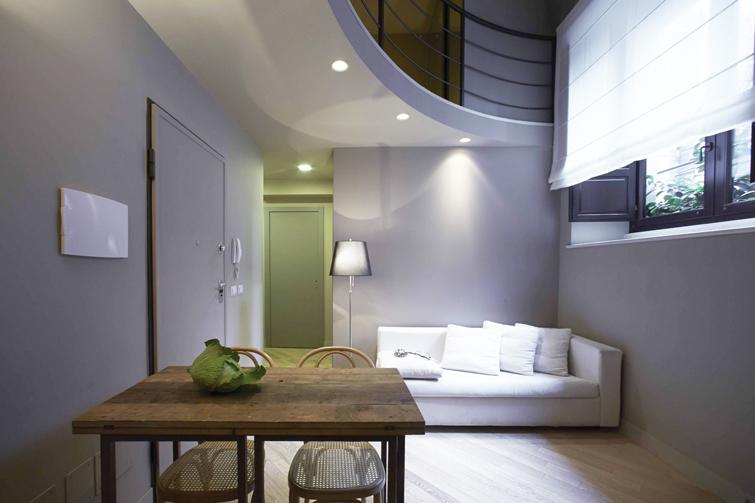 Sofa at Via Monte Sant'Agata Apartments
