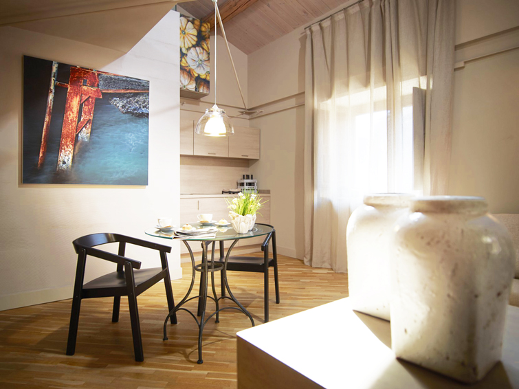 Seating at Via Monte Sant'Agata Apartments