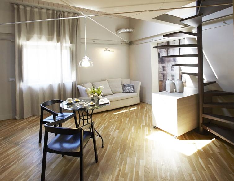Living room at Via Monte Sant'Agata Apartments