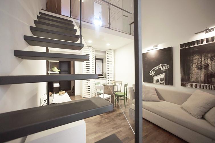 Stairs upstairs at Via Monte Sant'Agata Apartments