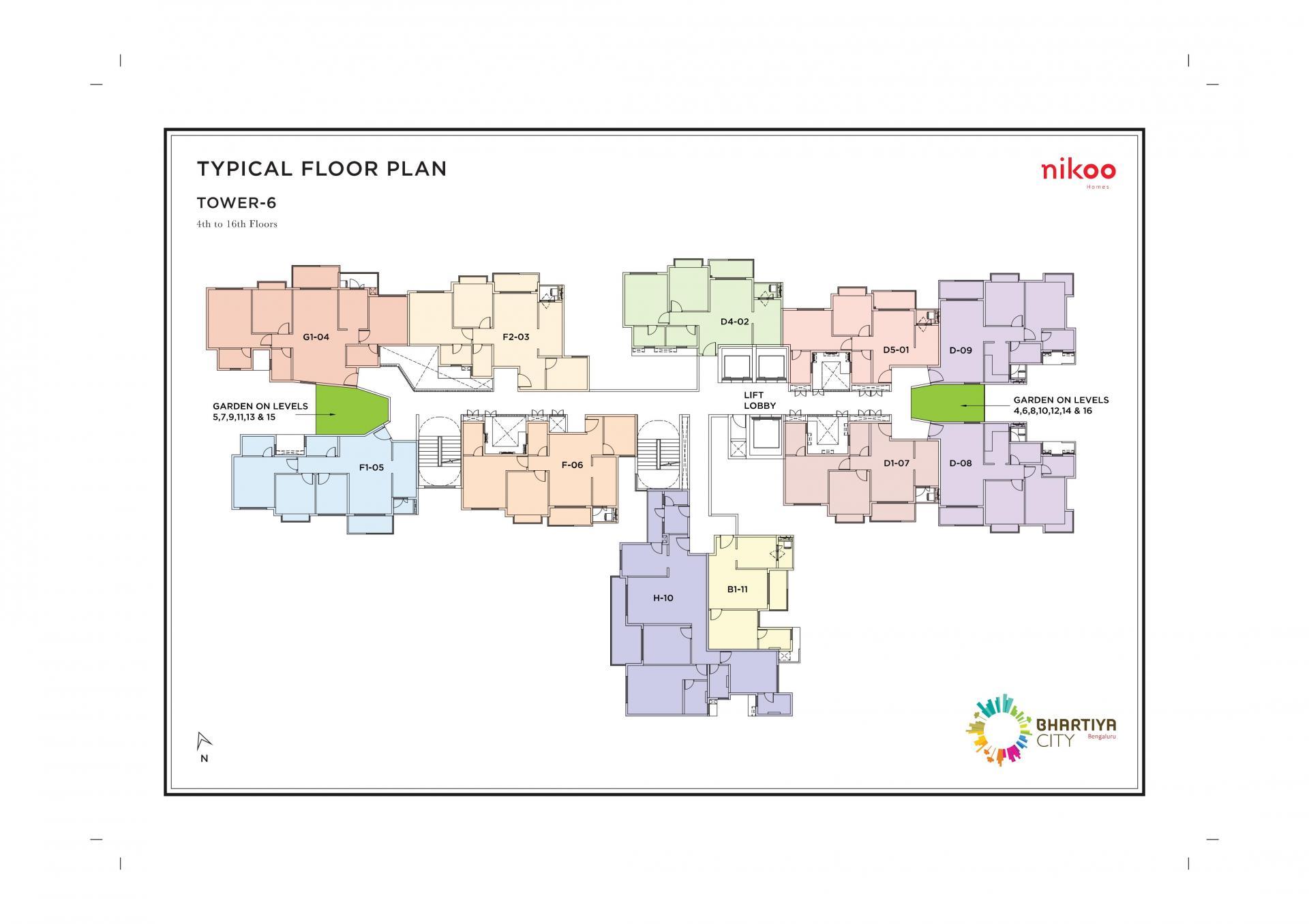 Floor plan at Bhartiya City Apartments