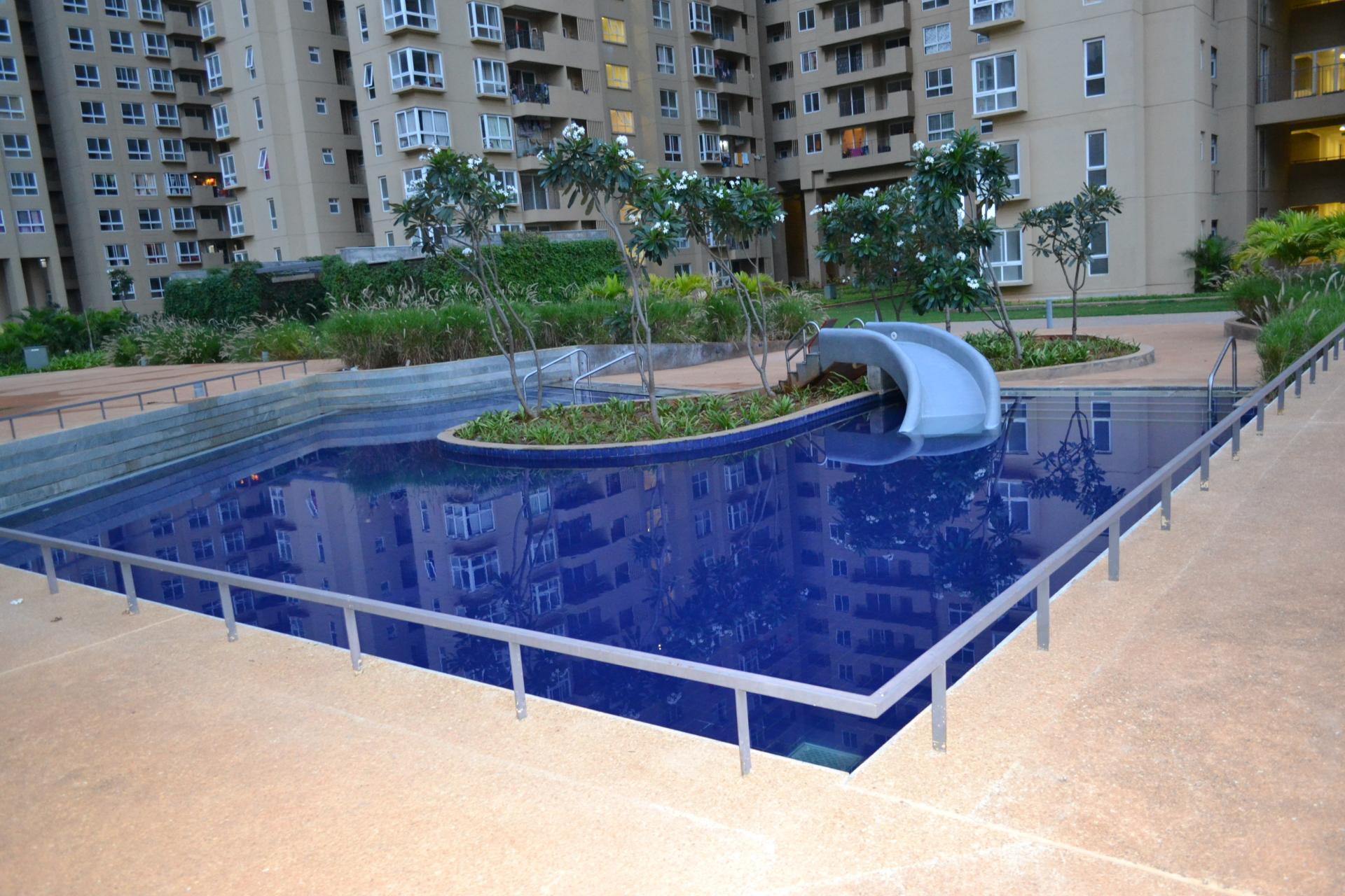 Pool at Bhartiya City Apartments