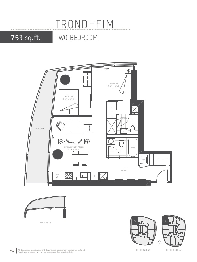 Floor plan 3 at The Ice Condos