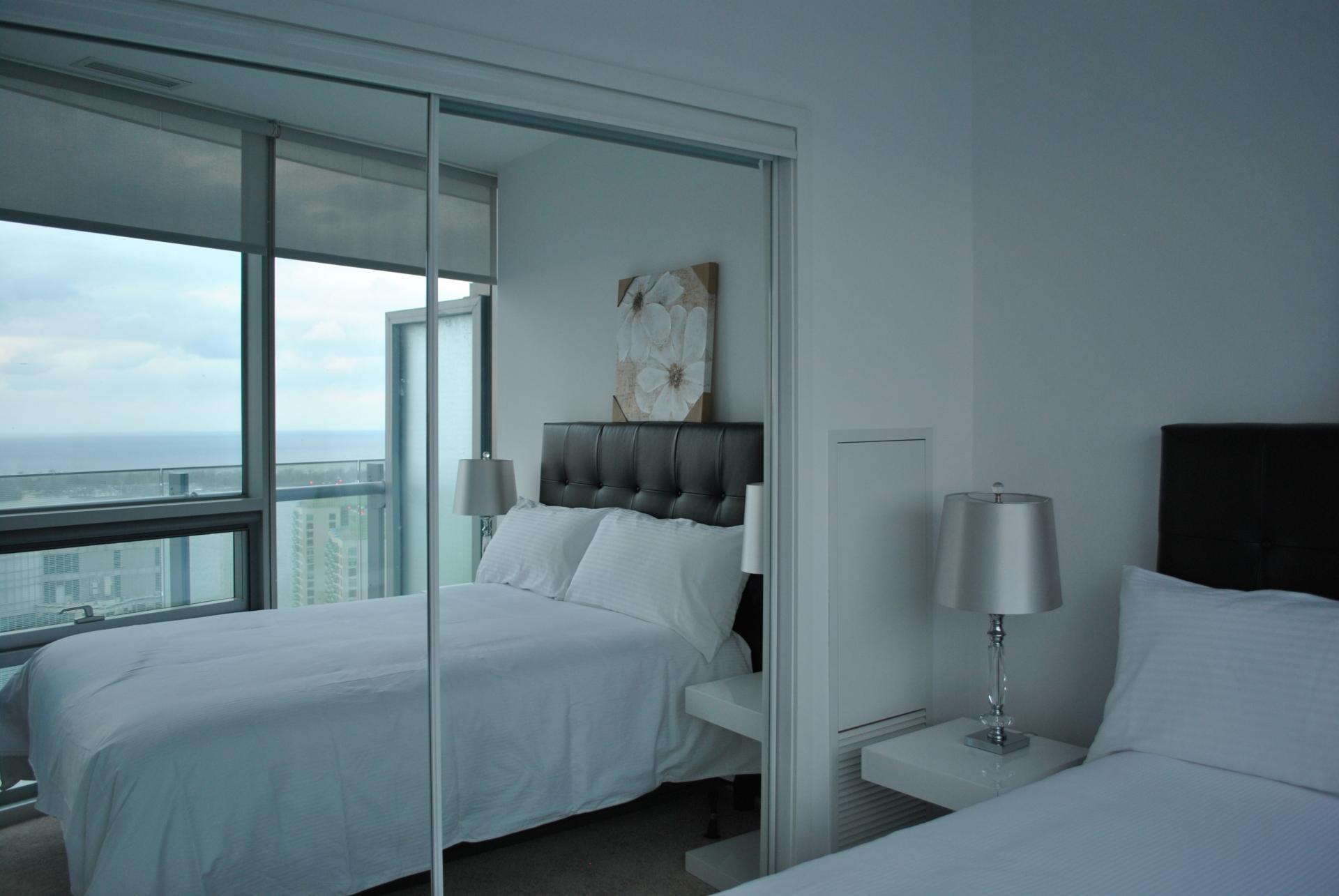 Bright bedroom at The Ice Condos