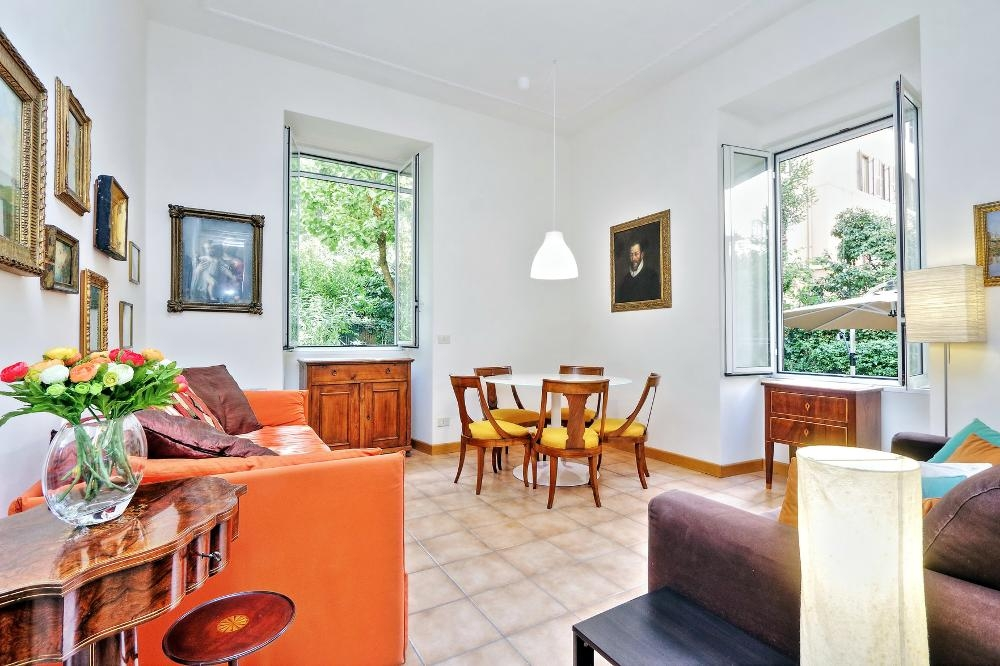 Living room at Clodia Apartment, Municipio XV, Rome