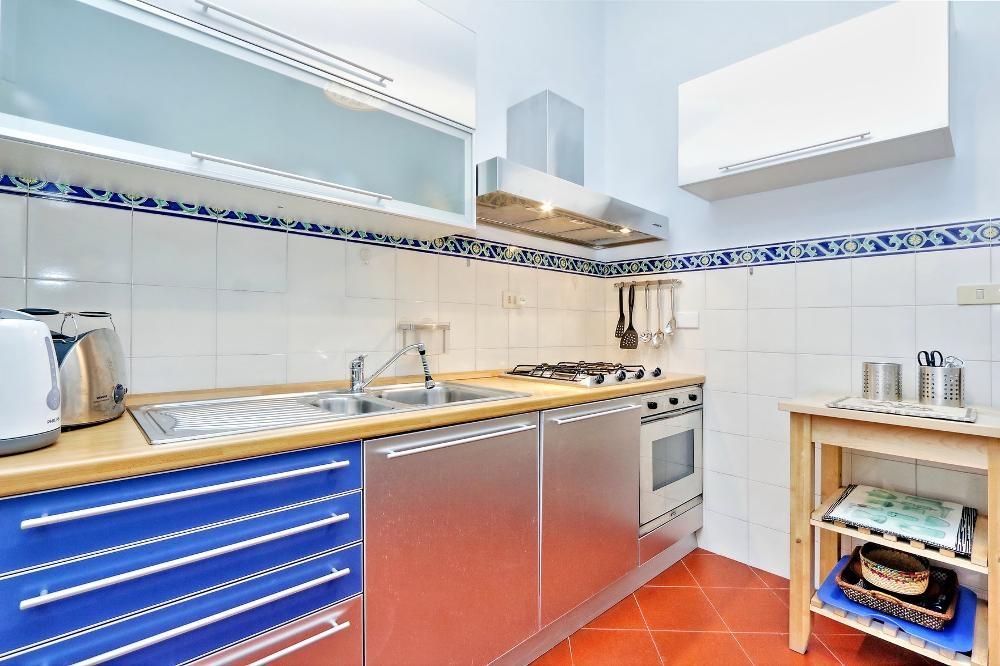 Kitchen at Clodia Apartment, Municipio XV, Rome