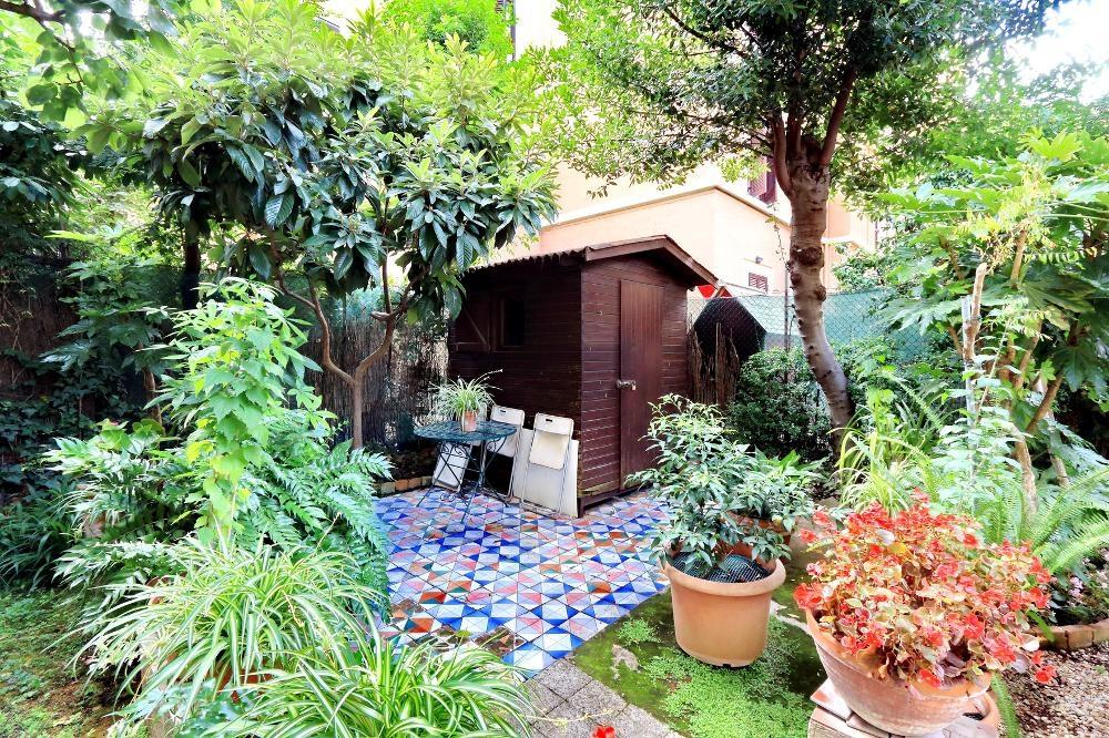Garden area at Clodia Apartment, Municipio XV, Rome