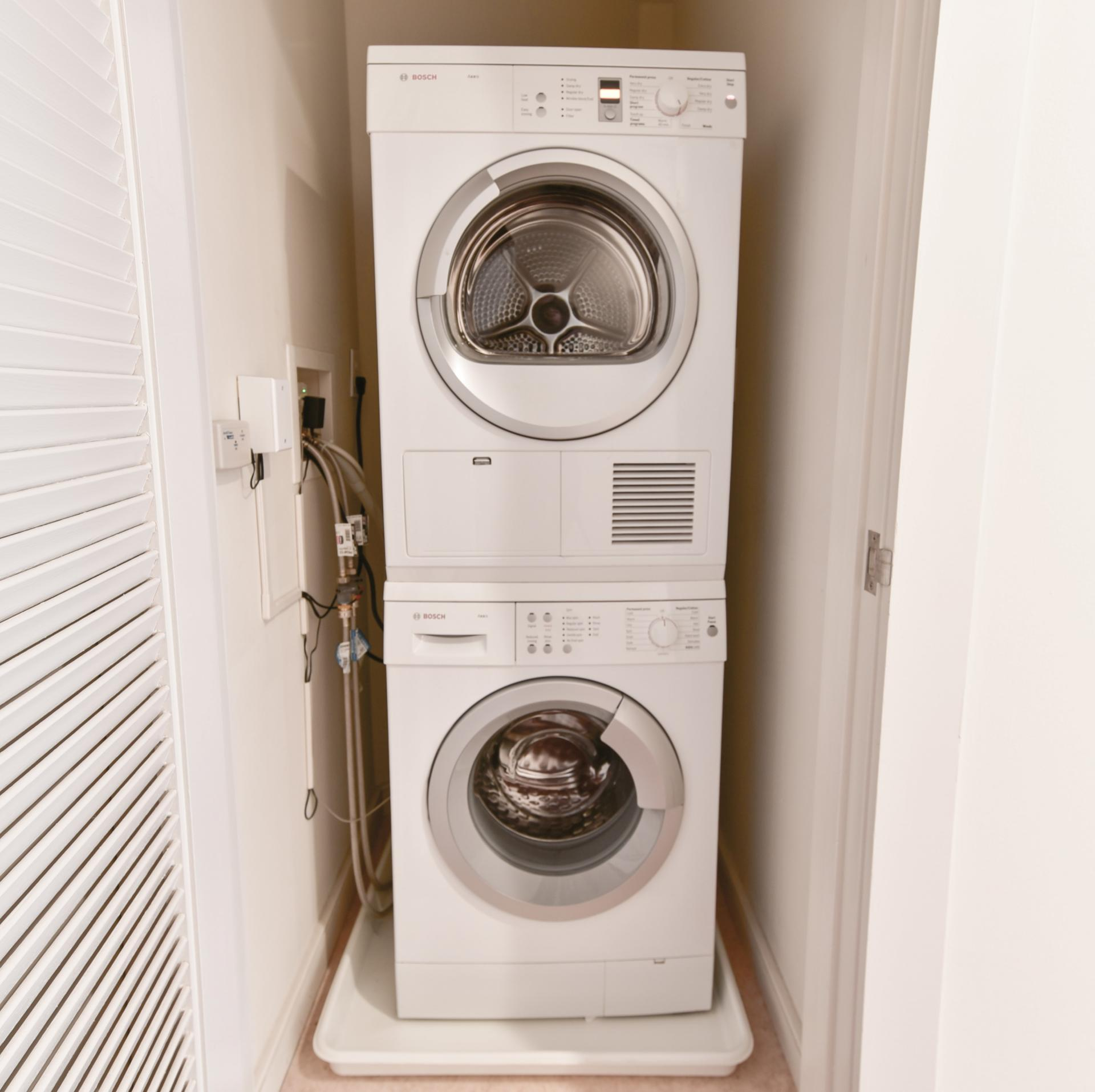 Laundry facilities at Avenir Serviced Apartments