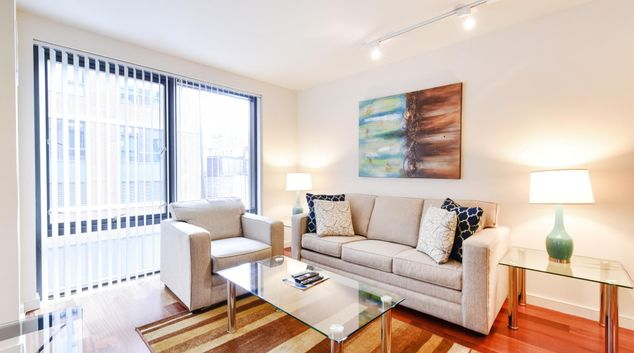 Living area at Avenir Serviced Apartments