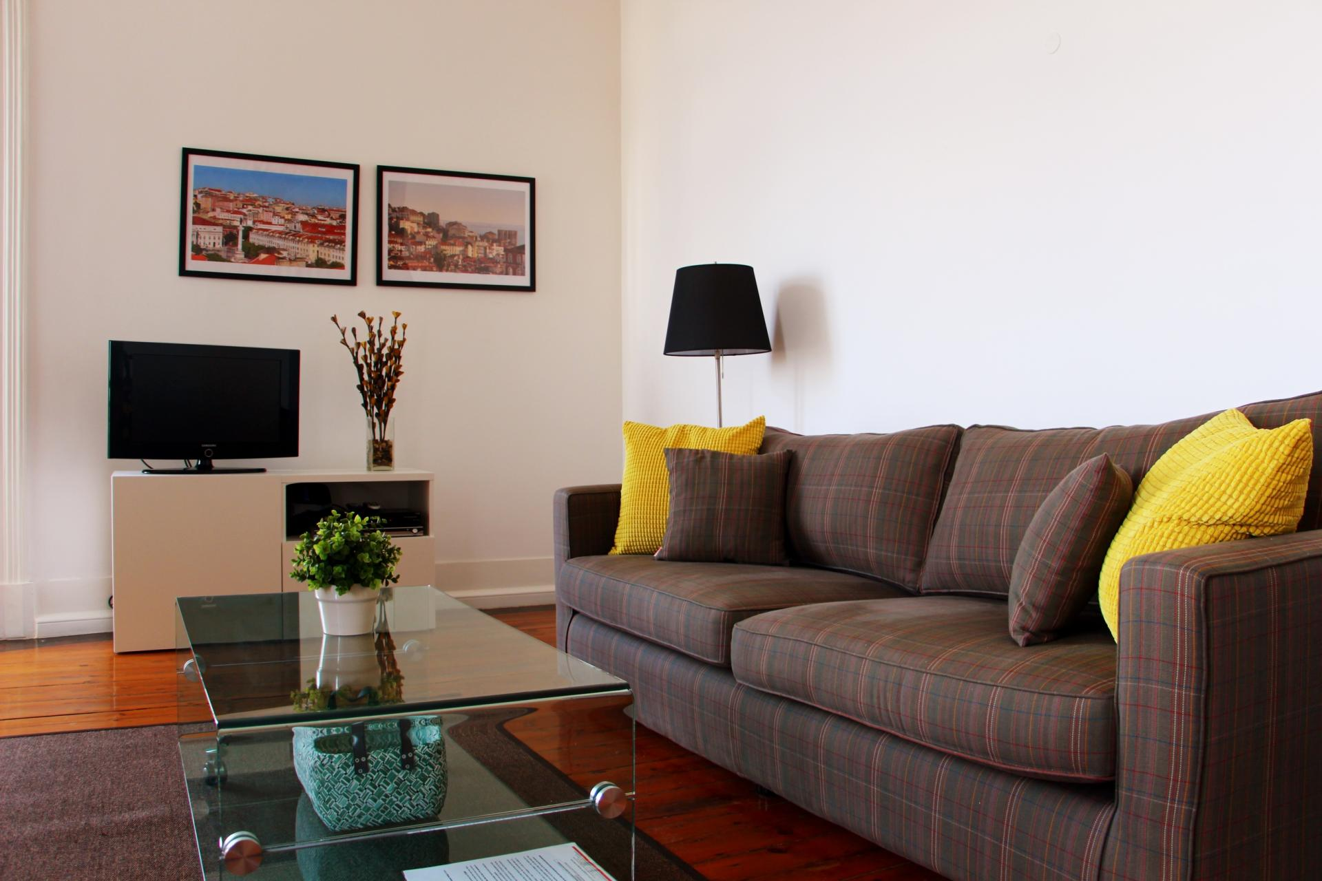 Living room at Santos River Serviced Apartments