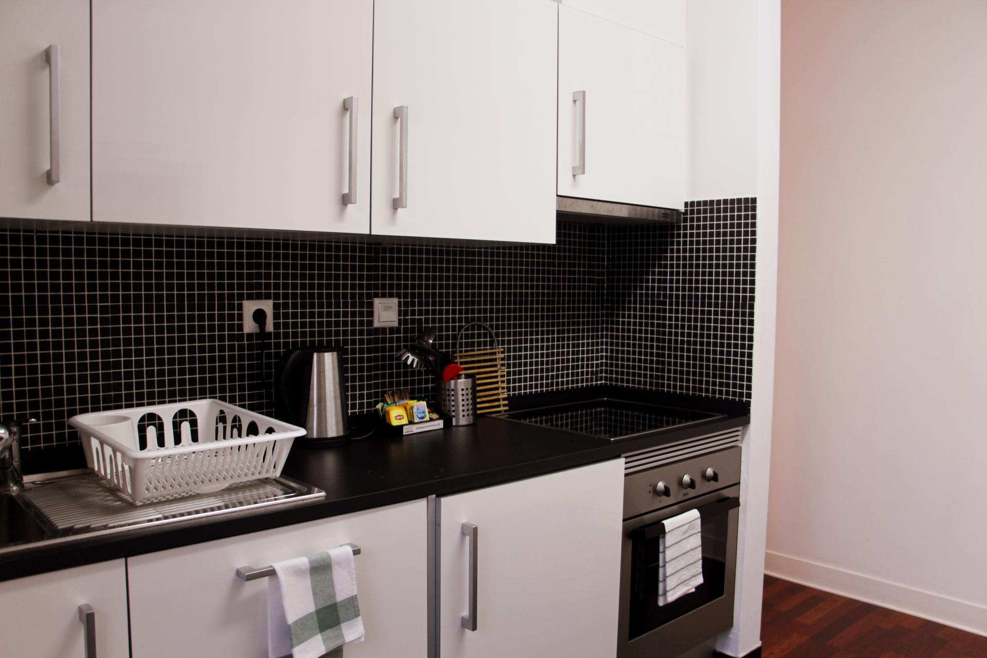 Kitchen at Santos River Serviced Apartments