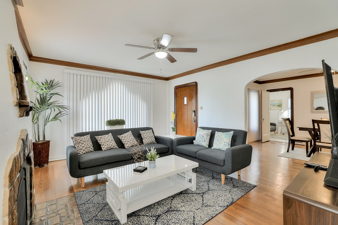 Living room at San Jose Home