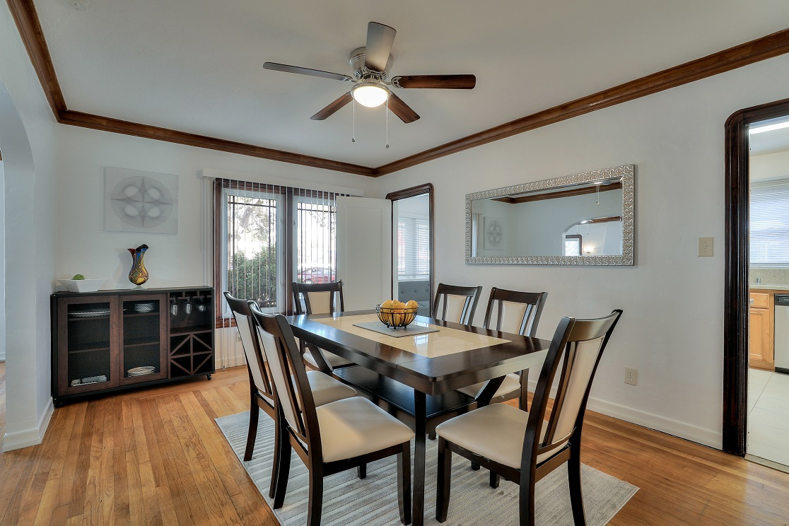 Dining table at San Jose Home