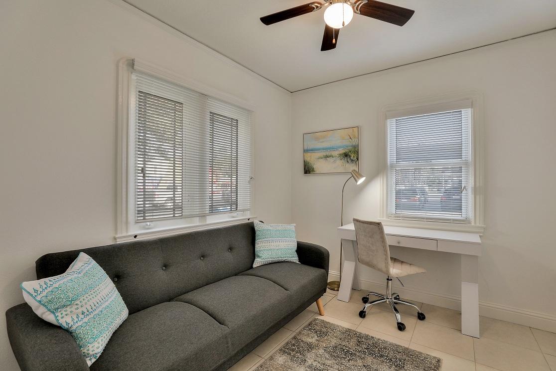 Desk area at San Jose Home