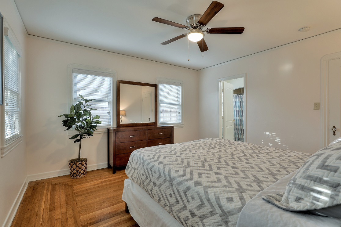 Stylish bedroom at San Jose Home