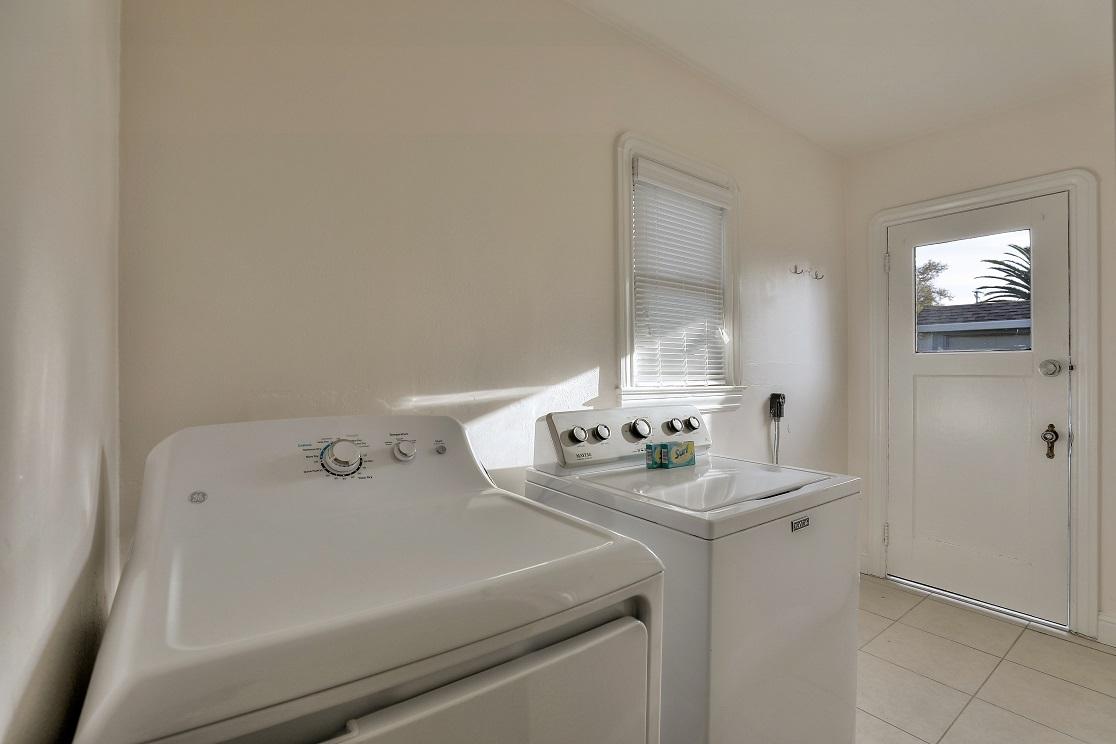 Laundry facilities at San Jose Home