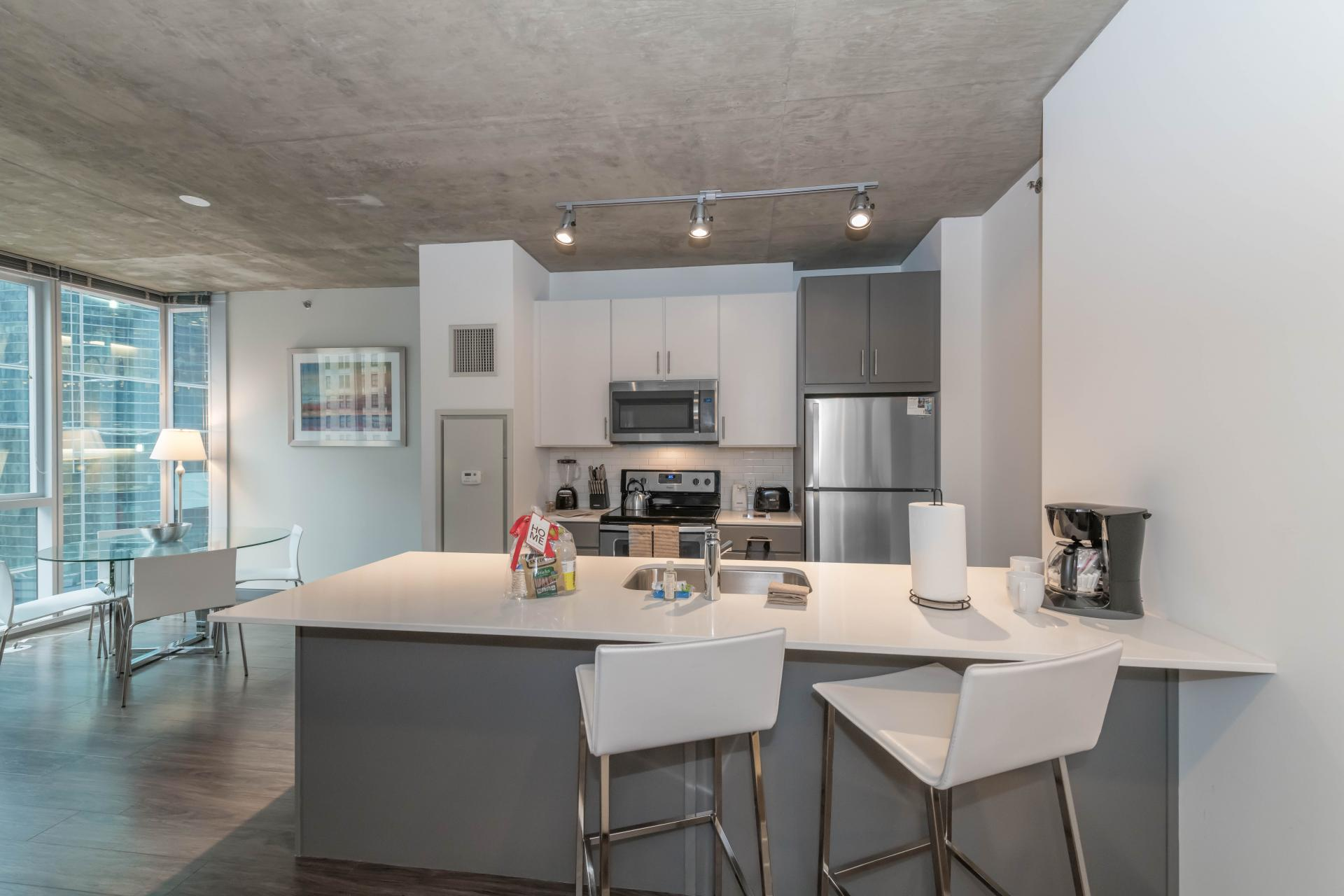 Kitchen at Linea Apartments Chicago