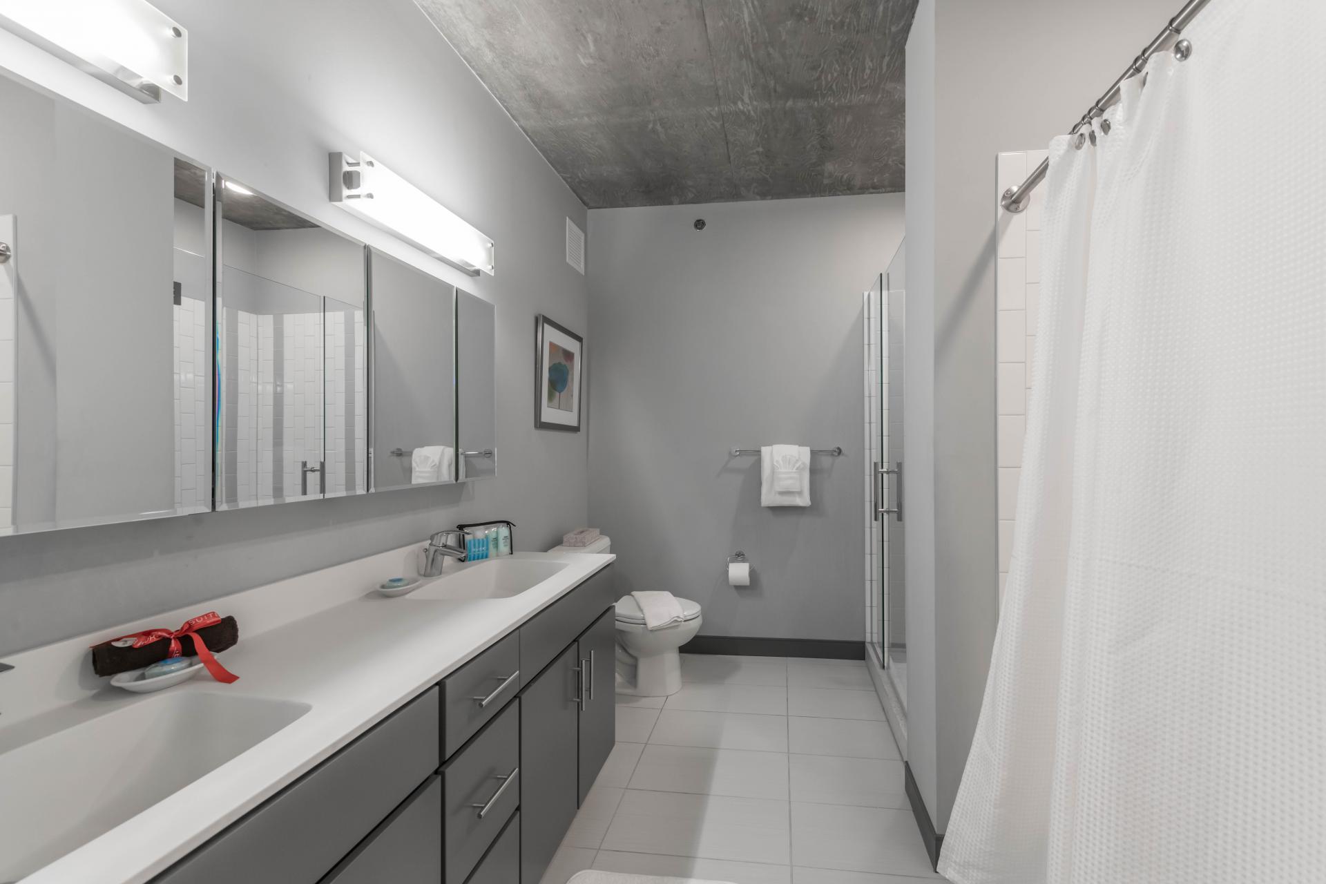 Bathroom at Linea Apartments Chicago