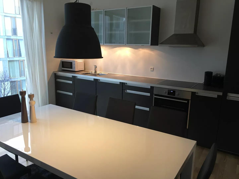 Kitchen at Teglholm Apartment, Sydhavnen, Copenhagen