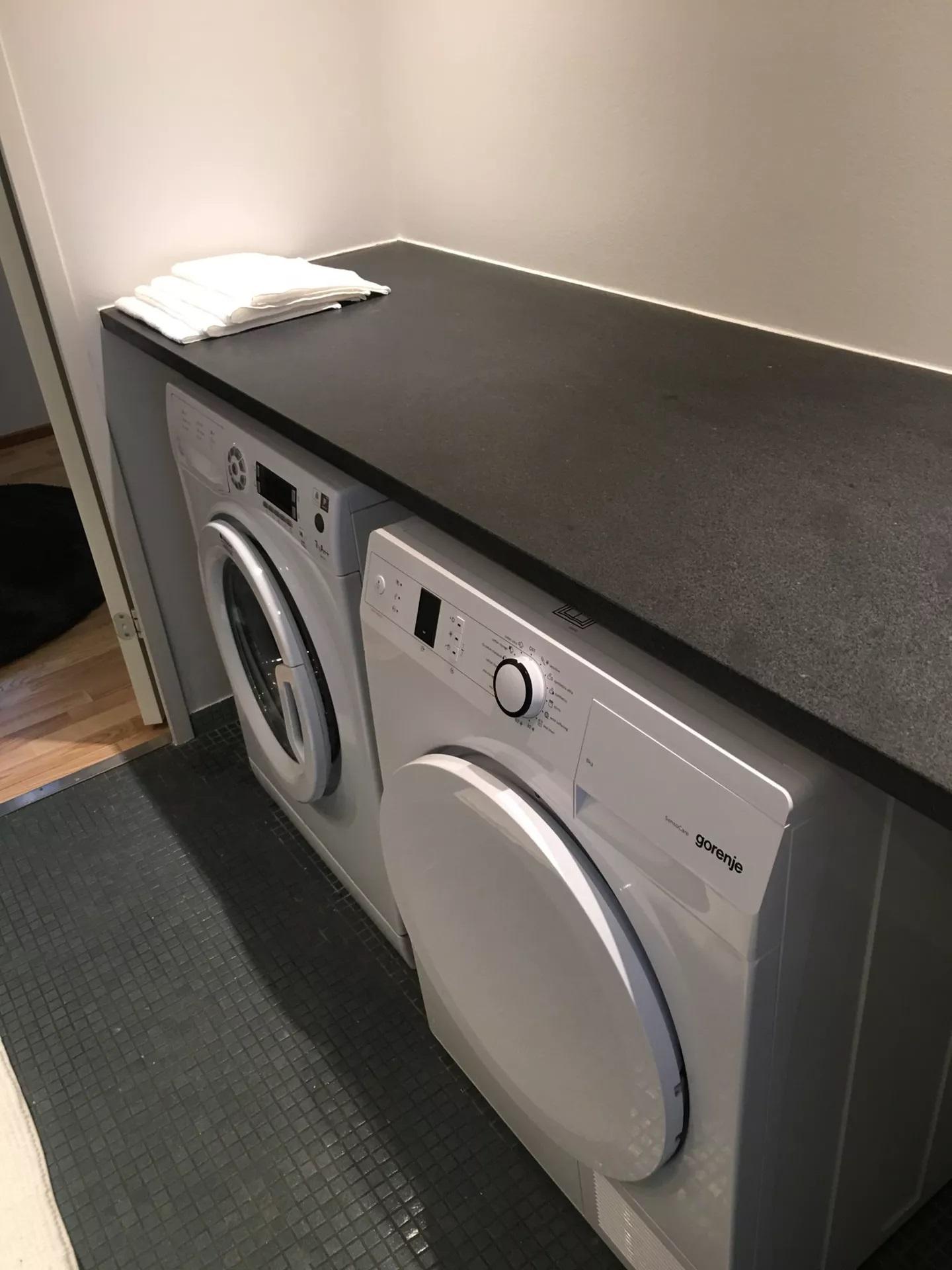 Laundry at Teglholm Apartment, Sydhavnen, Copenhagen