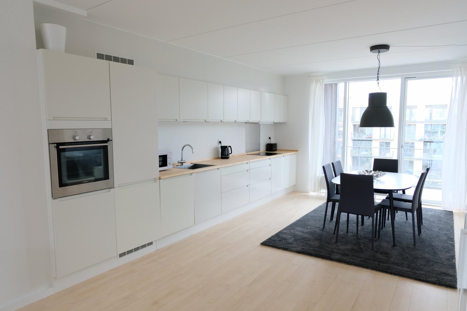 Kitchen at Sluseholmen Apartment, Sydhavnen, Copenhagen