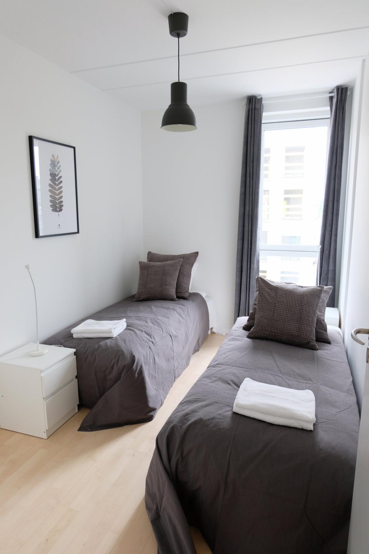 Bedroom at Sluseholmen Apartment, Sydhavnen, Copenhagen