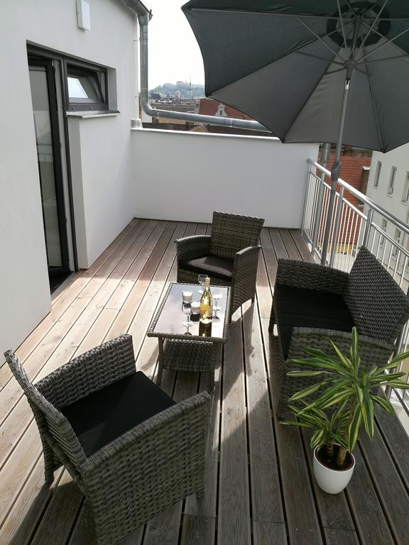 Terrace area at Bratislav Apartments
