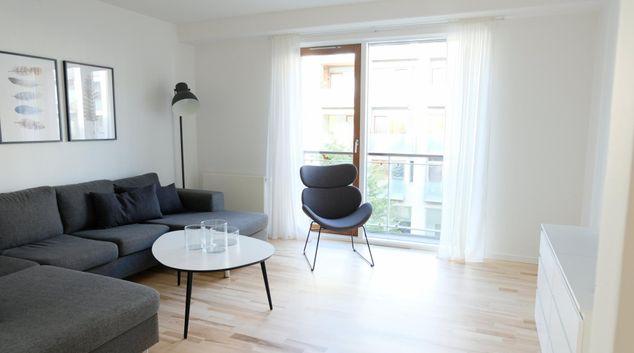 Living area at Kenny Drews, Sydhavnen, Copenhagen