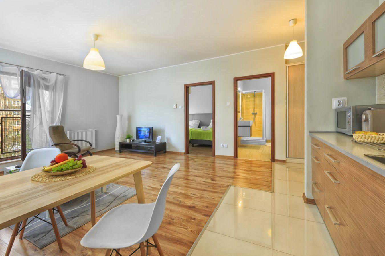 Kitchen at Zeligowskiego Apartments